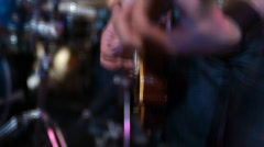 Stock video footage music Rock band and fans - stock footage