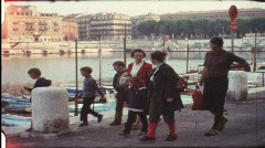 Family visiting Nice, France (vintage 8 mm amateur film) Stock Footage