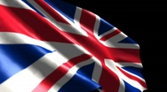 UK Flag High Res Dynamic - Long Stock Footage