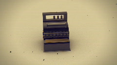 T174 old timey looping cash register Stock Footage