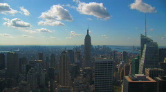 Midtown Manhattan New York City Vista Cityscape Skyline  Stock Footage