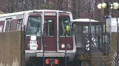 Washington DC Metro Train Stock Footage