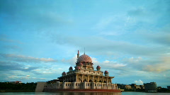 Putra Mosque, Malaysia Stock Footage