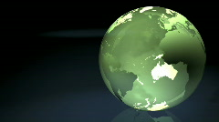 Green Marble Earth Stock Footage