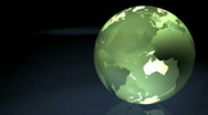 Stock Video Footage of Green Marble Earth