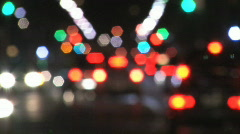 City intersection. Defocused. Stock Footage