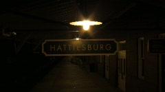 Hattiesburg Sign - stock footage