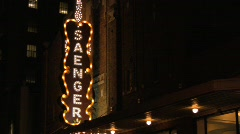 Saenger Theatre Sign Stock Footage
