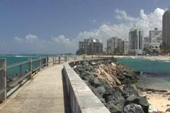 Puerto Rico - Condado: water breaker 2 Stock Footage