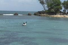 Puerto Rico - Condado: People having fun in air-kayak Stock Footage