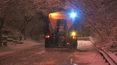 Salt truck. Stock Footage