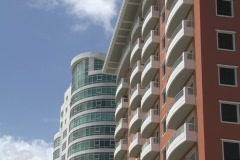 Puerto Rico - Condado: condos, buildings & skyline Stock Footage
