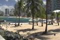 Puerto Rico - Condado: People at La Concha Beach 1 Footage
