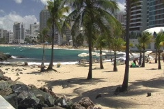 Puerto Rico - Condado: People at La Concha Beach 1 Stock Footage