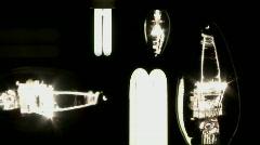 Energy saving light bulbs Stock Footage