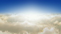 Flying Through The Clouds.. Looop - stock footage