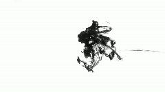 ink splash in water - stock footage