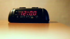 Alarm flashing 12 o'clock Stock Footage