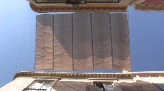 Sun Shade Over a Street in Seville Stock Footage