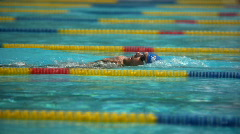 Swimming competition - stock footage