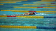 Stock Video Footage of Swimming competition