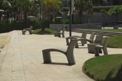 Puerto Rico - Condado:  beachfront passive park Stock Footage