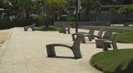 Stock Video Footage of Puerto Rico - Condado:  beachfront passive park