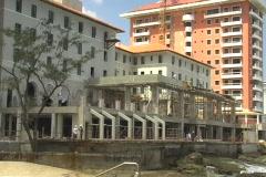Condado PR: hotel reconstruction Stock Footage