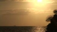 Kahalu'u Beach sunset 2 Stock Footage