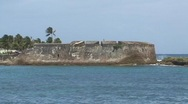Stock Video Footage of Puerto Rico - Condado: San Geronimo Fort