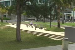 Puerto Rico - Condado: senior people resting on park Stock Footage