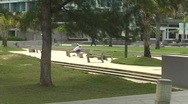 Stock Video Footage of Puerto Rico - Condado: senior people resting on park