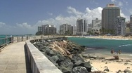 Stock Video Footage of Puerto Rico - Condado: water breaker 1