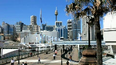 Darling Harbour Sydney  - stock footage