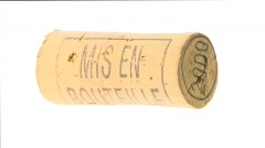 French cork dated 2000  - stock footage