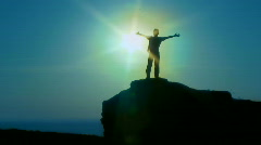 Silhouette man - stock footage