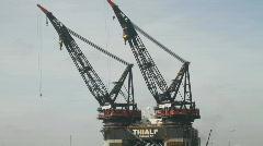 Thialf Offshore vessel Panama  Stock Footage