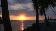 Pu uhonua o Honaunau sunset 2 Stock Footage