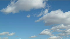 White clouds moving over blue sky. HD quality. Stock Footage