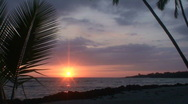 Stock Video Footage of Pu uhonua o Honaunau sunset 3