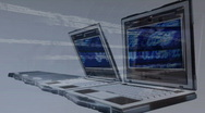 3D animation presenting the concept of new technology Stock Footage