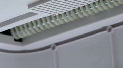 Paper Shredder - Inside View Stock Footage