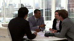 Confident business people having a brainstorming Stock Footage