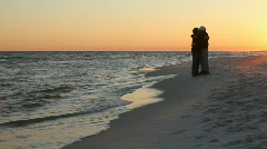 Mature Romantic Couple At Beach Stock Footage