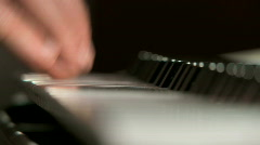 Playing Piano - stock footage