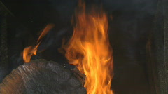 Fire and wood 4 Stock Footage