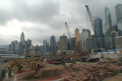 HONG KONG-CONSTRUCTION-WORKERS-SKYLINE 1 Stock Footage