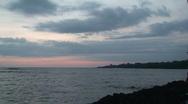 Pu uhonua o Honaunau sunset 6 Stock Footage