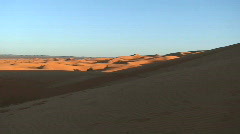 Sahara Desert Pan with Camels Stock Footage