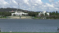 Old Parliament House Canberra Stock Footage